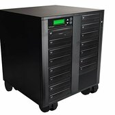 Copystars DVD-Duplicator 24X CD-DVD-Burner 1 to 15 Copier Sata Dual Layer Copy Easy Writer Tower