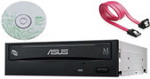 Asus Black SATA 24X Internal Burner Drive CD DVD RW writer + Copy software