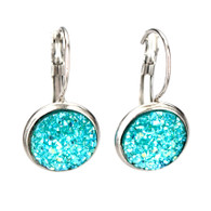 Turquoise (faux) Druzy
