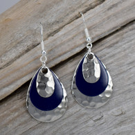 DEEP PURPLE EARRINGS WITH A LITTLE BLING!