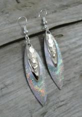 Silver Iridescent Earrings
