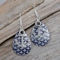 Deep Purple Earrings with ANCHOR Charm