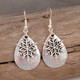 """Snow flake earrings.  Perfect for the holidays.  DIMENSIONS:  3/4"""" X 1"""""""