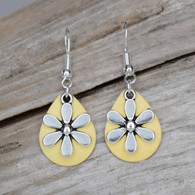 Small pair of yellow earrings.