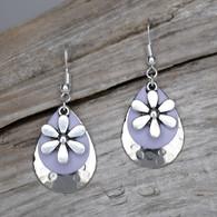 Lavender flower earrings.
