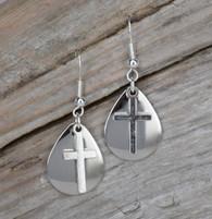Small pair of cross earrings.