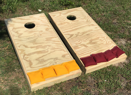 Standard Series Cornhole Boards - Unfinished Pressure Treated Lumber and stainless steel hardware