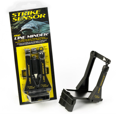 The package contains one easy-to-assemble Strike Sensor Line Minder™, which attaches to any style bank stick or rod holder with a simple O ring. (included)