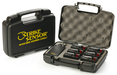 Protect your Strike Sensor system with the deluxe custom hard-side carrying case. Holds one pager, up to six transmitters and an extra battery.