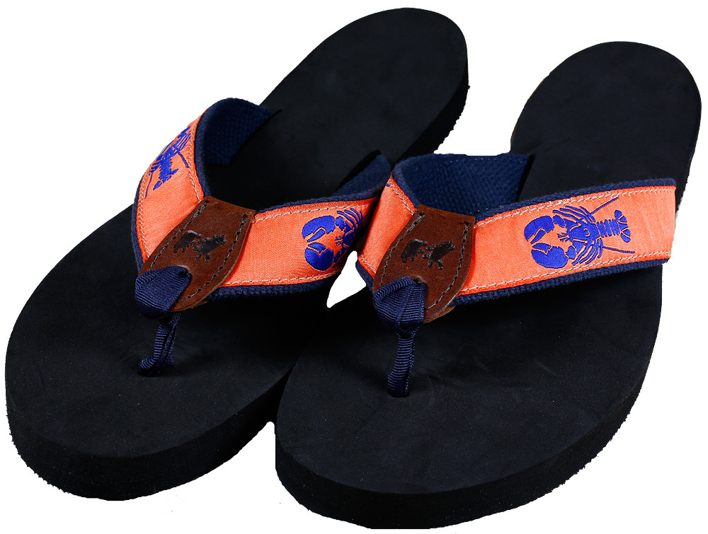 942e0f12486 Lobster (melon) Flip Flops - Belted Cow Company