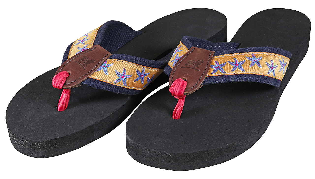 c9a4befb6082 Starfish (melon) Flip Flops - Belted Cow Company