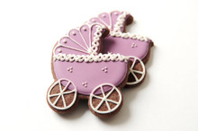 Baby Carriage Sugar Cookies - One Dozen - Vanilla or Chocolate