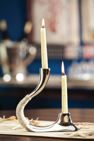 Modern Steel Double Taper Candle Holder