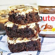 Nutella Cheesecake Brownies - (Free Recipe below)