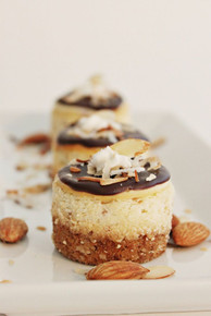 Almond Joy Mini Cheesecakes - Six included