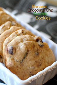 Banana Chocolate Chip Zucchini Cookies - One Dozen