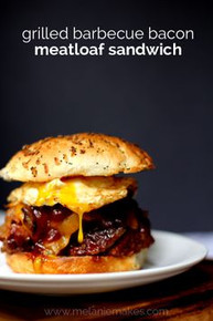 Grilled Barbecue Bacon Meatloaf Sandwich - (Free Recipe below)