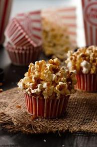 Brown Butter Salted Caramel Popcorn Cupcakes - One Dozen
