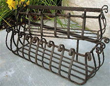 "38"" Iron Window Box Planter - custom sizes, designs"