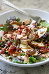 Apple, Bacon and Pecan Salad with Garlic Balsamic Dressing - (Free Recipe below)