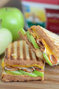 Apple, Cheddar & Turkey Panini - (Free Recipe below)