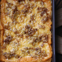 Mashed Sweet Potato Gratin with Smoked Gouda and Shallots - (Free Recipe below)