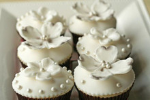Dogwood Flower Vanilla Cupcakes - One Dozen