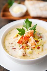 Lobster Corn Chowder - (Free Recipe below)