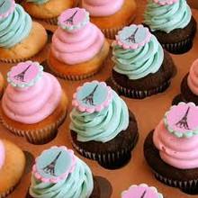 Eiffel Tower Cupcakes - One Dozen