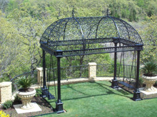 Double Final Wrought Iron Oblong Gazebo - special orders available