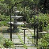 Simple 8ft Iron Gate Arbor