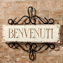 "Italian ""Benvenuti"" Welcome Plaque"
