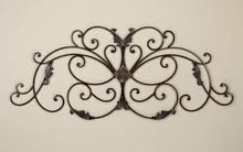 Fairview Curved Oval Iron Wall Grille