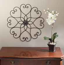 Fairview Round Iron Wall Scroll