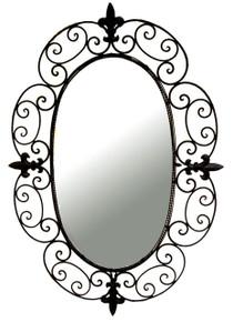 Ashton Wrought Iron Wall Mirror