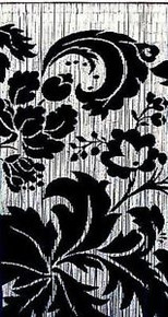 Black & White Flowers Bamboo Beaded Curtain