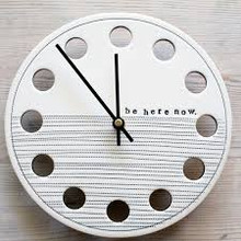Be Here Now Wall Clock