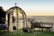 Beach / Oceanside Sunset Wedding - buy or rent our wrought iron / decor too