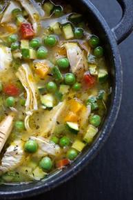 Lemon Chicken & Vegetable Soup - (Free Recipe below)