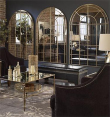 """Arched Window Warehouse Mirror 72""""h"""