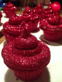 Glitterbomb Cupcakes - One Dozen w/ recipe below