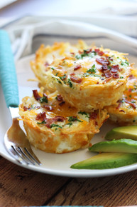 HASH BROWN EGG NESTS WITH AVOCADO - (Free Recipe below)