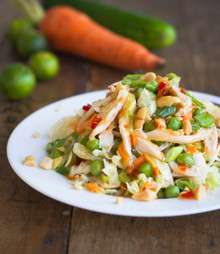 ASIAN CHICKEN SALAD WITH SESAME CHILI VINAIGRETTE - (Free Recipe below)