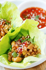 Thai Chicken Lettuce Wraps - (Free Recipe below)