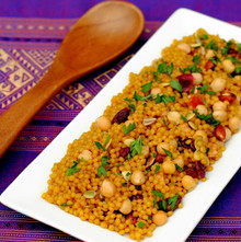 Curried Cranberry Couscous Pilaf - (Free Recipe below)