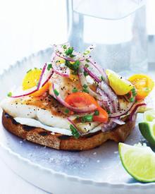 Sautéed Trout on Toast - (Free Recipe below)
