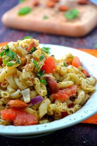 Almond Basil Pasta Salad - (Free Recipe below)