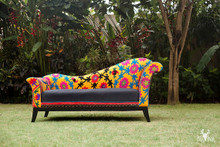 Flower Charm Suzani Sofa Chaise Lounge