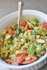 Avocado & White Bean Salad with Vinaigrette - (Free Recipe below)