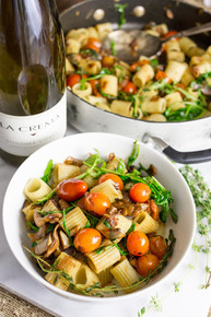 Arugula and Mushroom Rustic Pasta (V) - (Free Recipe below)